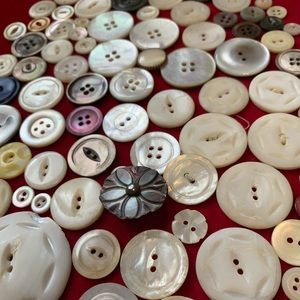 Beautiful vintage carved buttons shell crafts